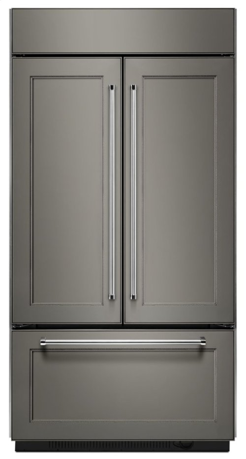 "20.8 Cu. Ft. 36"" Width Built In Panel Ready French Door Refrigerator with Platinum Interior Design"