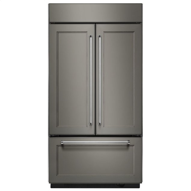 "Kitchenaid 24.2 Cu. Ft. 42"" Width Built-In Panel Ready French Door Refrigerator with Platinum Interior Design - Panel Ready PA"