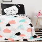 Night Garden Comforter and Pillowcase - Black and White Product Image