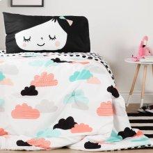 Night Garden Comforter and Pillowcase - Black and White