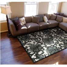 Graphic Illusions Gil02 Pewtr Rectangle Rug 3'6'' X 5'6''