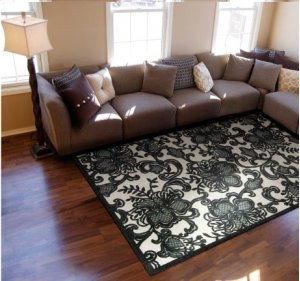 Graphic Illusions Gil02 Pewtr Rectangle Rug 2'3'' X 3'9''