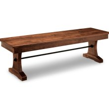 "Glengarry 60"" Pedestal Bench with Wood Seat"