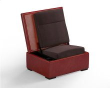 JumpSeat Ottoman, Cinnamon Cover / Root Beer Seat