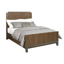 AD Modern Synergy Chevron Walnut Queen Bed Package