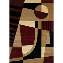 Contours Urban Angles Burgund Rugs