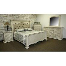 Terra White King Upholstered Bed
