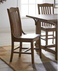 Dining Chair (2/Carton) - Medium Oak Finish Product Image