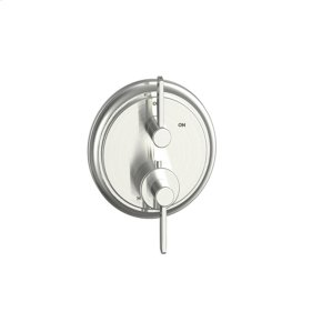 Satin Nickel Wallace (Series 15) Dual Control Thermostatic with Volume Control Valve Trim