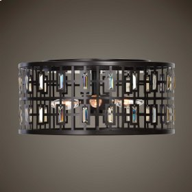 Rhombus, 4 Lt. Flush Mount
