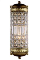1205 Olivia Collection Wall Sconce W:5in H:15in Ext: 7in Lt:1 French Gold Finish Royal Cut Crystal (Clear) Product Image