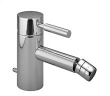 Single-lever bidet mixer with drain - chrome