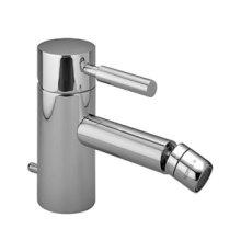 Single-lever bidet mixer with drain - chrome