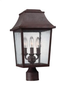 3 - Light Outdoor Post Lantern