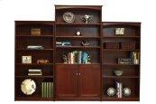 "Home Office 4 Adjustable Shelf Bookcase,2 Doors (37"" wide) -1 fixed shelf"