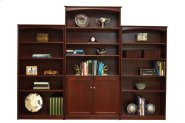 "Home Office 4 Adjustable Shelf Bookcase,2 Doors (37"" wide) -1 fixed shelf Product Image"