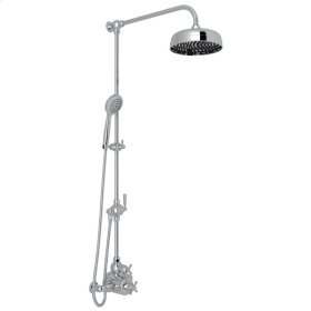 Polished Chrome Holborn Thermostatic Shower Package with Holborn Cross Handle