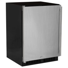 "24"" All Refrigerator - Marvel Refrigeration - Solid Stainless Steel Door - Left Hinge"