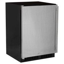 "24"" All Refrigerator - Marvel Refrigeration - Solid Stainless Steel Door - Left Hinge"