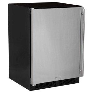 "Marvel24"" All Refrigerator - Marvel Refrigeration - Solid Stainless Steel Door - Left Hinge"