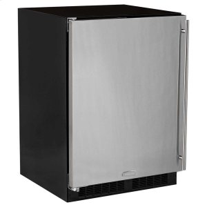 24-In Built-In Refrigerator Freezer With Crescent Ice Maker with Door Style - Stainless Steel -