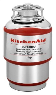 1-Horsepower Continuous Feed Food Waste Disposer - Red