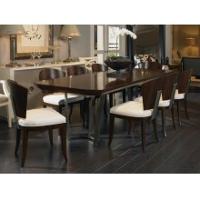 Paragon Club Guardian Dining Table With Metal Base