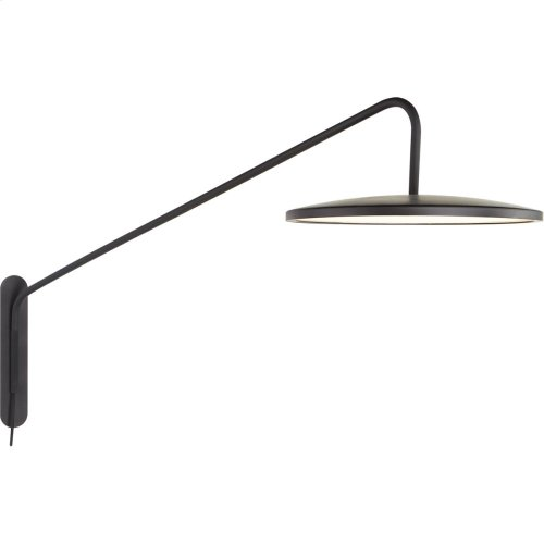 Visual Comfort PB2020MBK Peter Bristol Dot LED 16 inch Matte Black Articulating Wall Sconce Wall Light