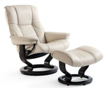 Stressless Mayfair Medium Recliner and Ottoman
