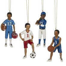 Boy Sport Ornament. (12 pc. ppk.)