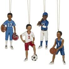Boy Sport Ornament. (12 pc. ppk.)