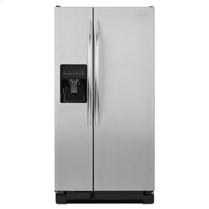 AmanaAmana(R) 32-inch Wide Amana(R) Side-by-Side Refrigerator with Adjustable Door Bins -- 21 cu. ft. Capacity - Black-on-Stainless