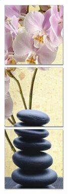Modrest Yoga Stones 3-Panel Photo On Canvas Product Image