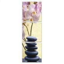 Modrest Yoga Stones 3-Panel Photo On Canvas