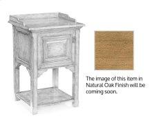 Elizabethan style natural oak bedside table