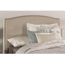 Kerstein Fabric Headboard - King - Headboard Frame Not Included - Lt Taupe