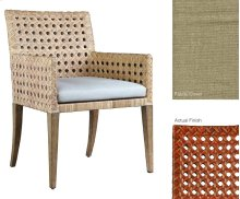 Leeward Woven Cane Arm Chair in Conte Finish