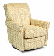 Plaza Fabric Swivel Glider with Nailhead Trim