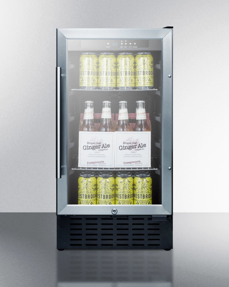 Scr1841bcssada in by summit in jefferson city mo 18 wide ada 18 wide ada compliant built in undercounter glass door refrigerator with stainless steel wrapped planetlyrics Image collections