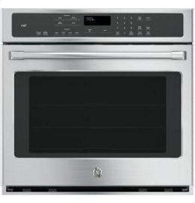 """30"""" GE Cafe Electric Self-Cleaning Convection Single Wall Oven Product Image"""