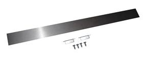 Slide-In Range Rear Gap Filler - Stainless Steel