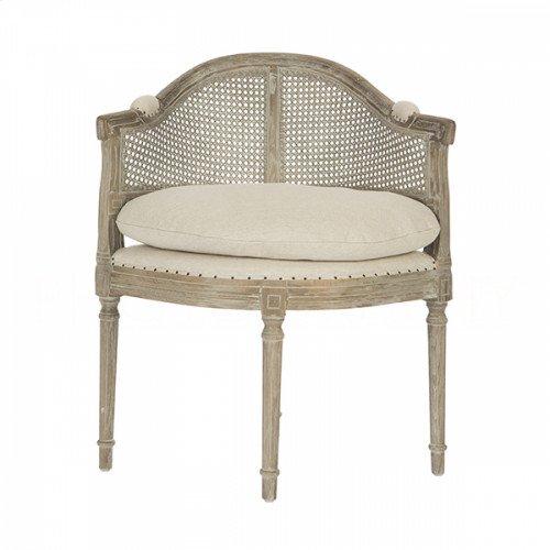 Blue Cane Back Burnt Oak Chair
