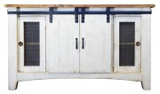 Barn Door TV Stand 2 Drawer Product Image