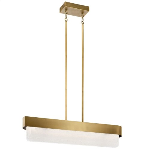 Serene LED Linear Chandelier Natural Brass