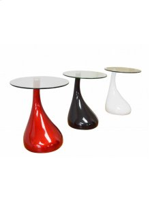 Double Check Color Availability End Table With Glass Top.