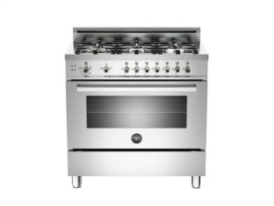 Stainless 36 6-Burner, Gas Oven