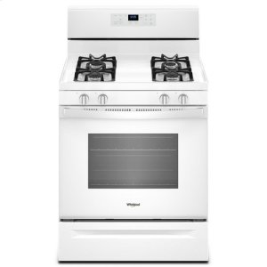 Whirlpool® 5.0 cu. ft. Freestanding Gas Range with Adjustable Self-Cleaning - White - WHITE