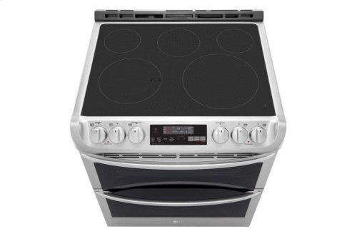 7.3 cu. ft. Smart wi-fi Enabled Electric Double Oven Slide-In Range with ProBake Convection® and EasyClean®
