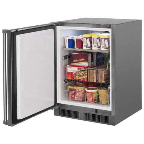 "24"" Outdoor Freezer  Marvel Premium Refrigeration - 24"" Outdoor All Freezer - Solid Stainless Steel Door with Lock, Right Hinge"