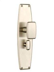 Art Deco Escutcheon Set w/Knob -TL Passage 2-3/4 Backset